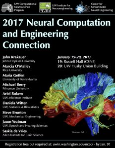 A flyer from one of the past Neural Computation and Engineering Connections, in 2017