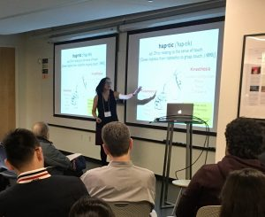 Allison Okamura speaks at the 2018 Neural Computation and Engineering Connection
