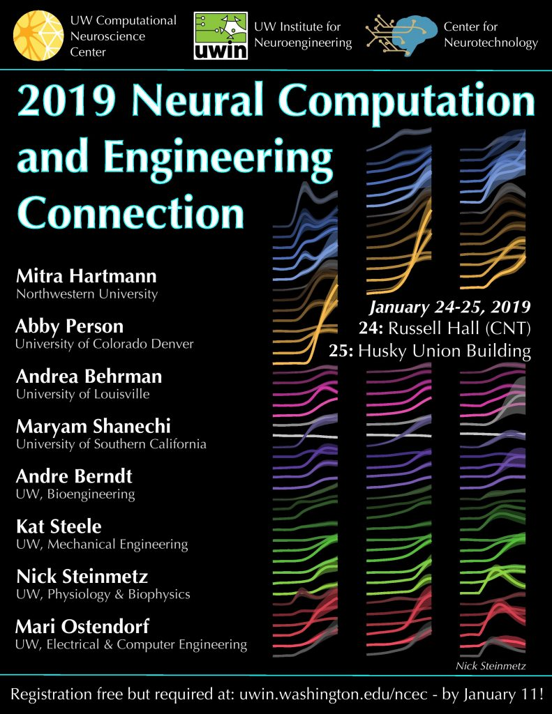 Poster for 2019 Neural Computation and Engineering Connection